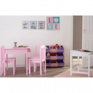 Chimes - Kids Table And Chair Set Pink