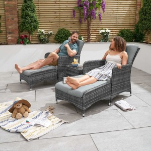 Nova - Mixed Grey New Hampshire Rattan Lounge Set