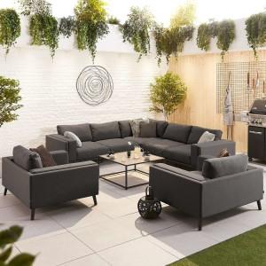 Nova - Infinity Outdoor Fabric Corner Sofa Set with 2 Armchairs