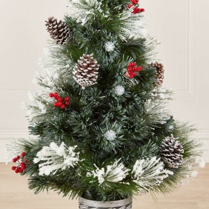 3ft Fibre Optic Deluxe Forest Pine Artificial Christmas Tree