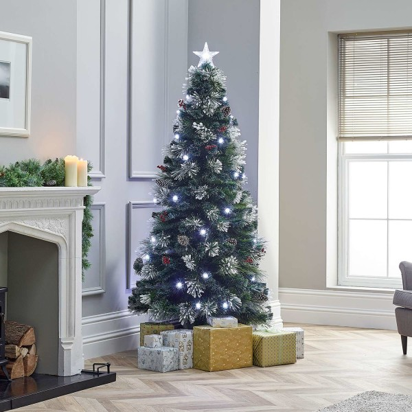 5ft Fibre Optic Deluxe Forest Pine Artificial Christmas Tree
