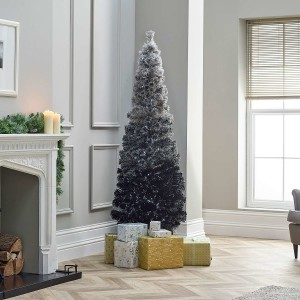 4ft Fibre Optic Grey Eclipse Fade Artificial Christmas Tree