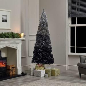 6ft Fibre Optic Grey Eclipse Fade Artificial Christmas Tree
