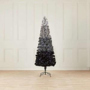 7ft Fibre Optic Grey Eclipse Fade Artificial Christmas Tree
