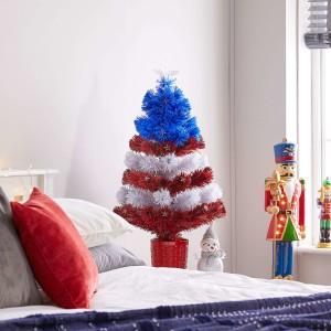 3ft Fibre Optic Stars & Stripes Artificial Christmas Tree