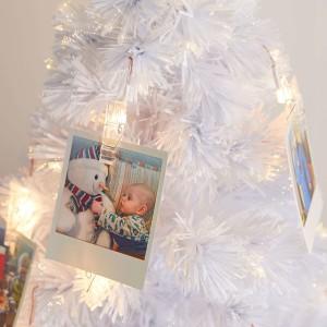 3ft Fibre Optic White Photo Clip Artificial Christmas Tree
