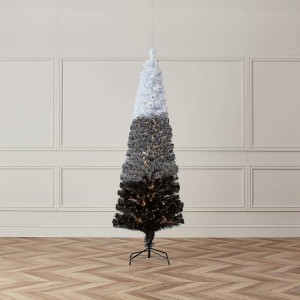 4ft Fibre Optic Eclipse Black & White Artificial Christmas Tree
