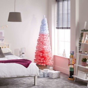 4ft Fibre Optic Eclipse Pink & White Artificial Christmas Tree