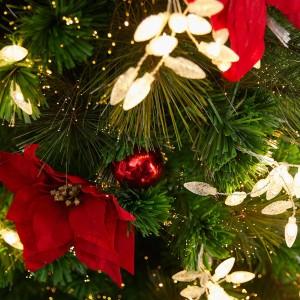4ft Fibre Optic Poinsettia Artificial Christmas Tree