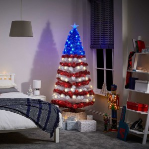 4ft Fibre Optic Stars & Stripes Artificial Christmas Tree
