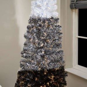 5ft Fibre Optic Eclipse Black & White Artificial Christmas Tree