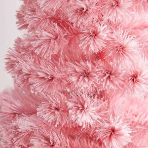 6ft Fibre Optic Eclipse Pink & White Artificial Christmas Tree