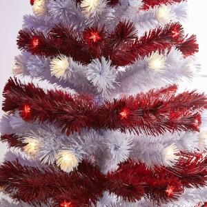 7ft Fibre Optic Stars & Stripes Artificial Christmas Tree