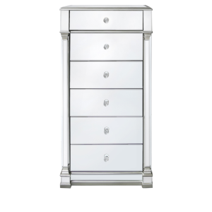 Chimes - Anne-Marie Silver Mirrored Tallboy Cabinet