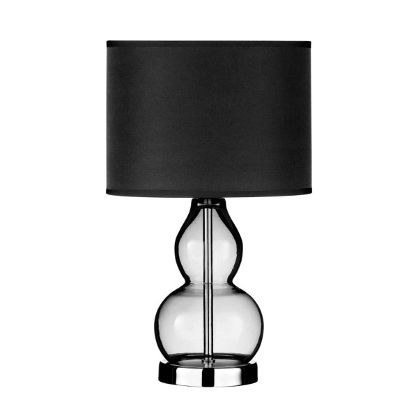 Chimes - Arzo Grey Glass Table Lamp
