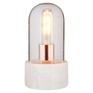 Chimes - Bell Lamp With White Marble Base