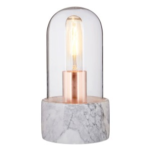 Chimes - Bell Lamp With Grey Marble Base