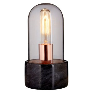 Chimes - Bell Lamp With Black Marble Base