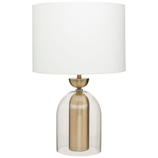Chimes - Dylan Glass / Brass Finish Table Lamp