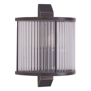 Chimes - Scarla Glass Wall Light With Black Finish