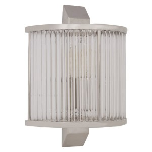 Chimes - Scarla Glass Wall Light With Nickel Finish