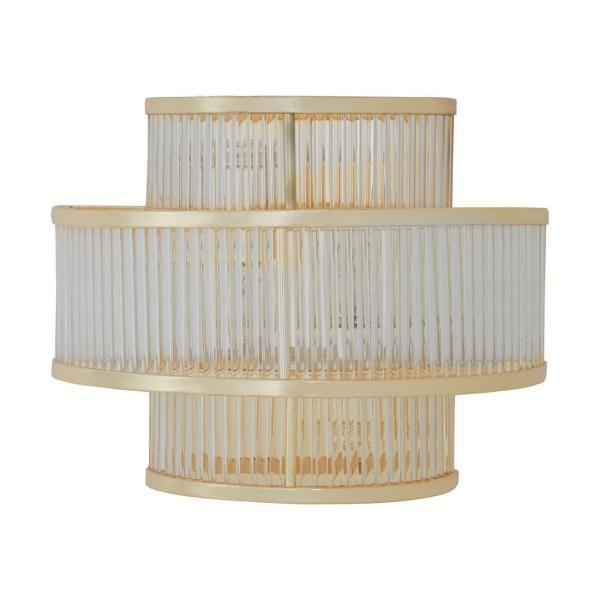 Chimes - Scarla 3 Tier Gold Finish Glass Wall Light
