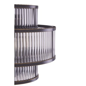 Chimes  - Scarla 3 Tier Black Finish Glass Wall Light