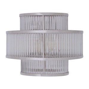 Chimes - Scarla 3 Tier Nickel Finish Glass Wall Light