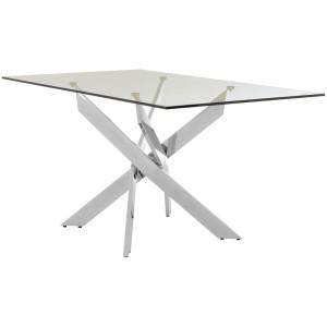 Chimes - Deana Rectangular Chrome Dining Table