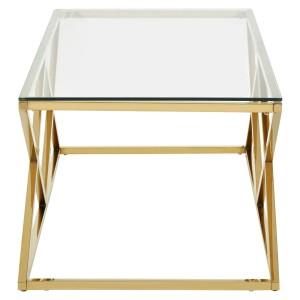 Chimes - Royalton Gold Finish Coffee Table