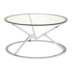 Chimes - Jubilee Corseted Round Silver Coffee Table