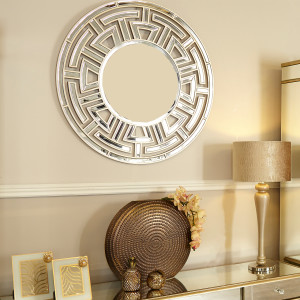Chimes - Anne-Marie Silver Round Wall Mirror
