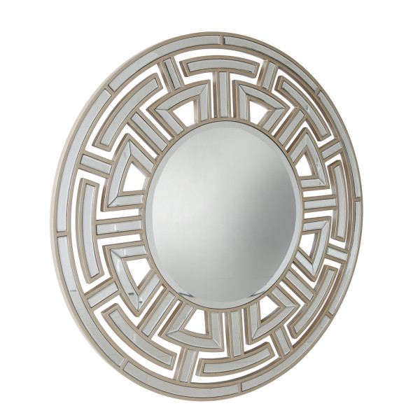 Chimes - Anne-Marie Champagne Round Wall Mirror