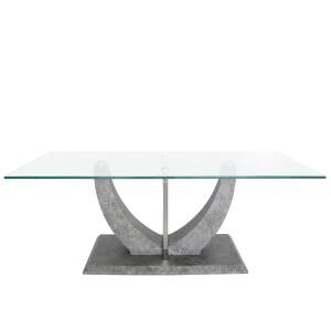 Chimes - Leonardo Grey Coffee Table With Glass Top