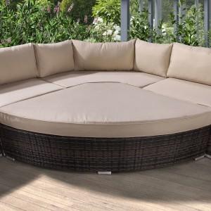 Nova - Mixed Brown Hampton Deluxe Corner Sofa Set