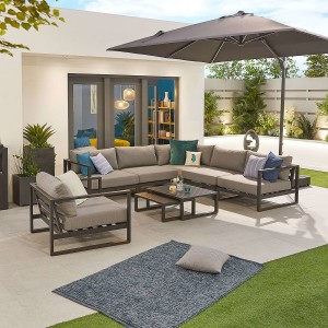 Nova - Nova Alessandria Aluminium Corner Sofa Set with Armchair