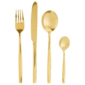 Chimes - 16pc Gold finish cutlery set
