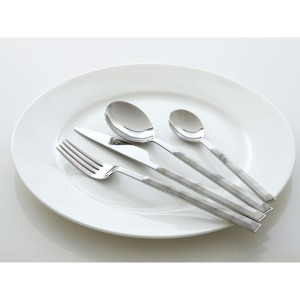 Chimes - 16pc White Marble Effect Cutlery Set