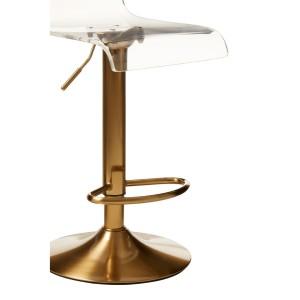 Chimes - Remi Acrylic Bar Stool Gold