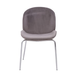 Chimes - Parker Mink Winged Chrome Finish Dining Chair
