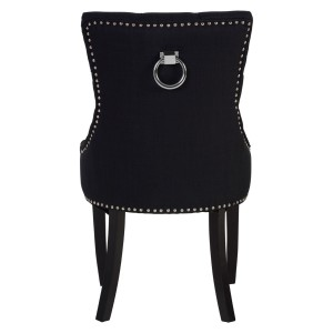 Chimes - Amelia Black Linen Dining Chair