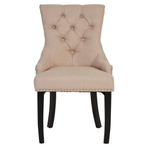 Chimes - Amelia Natural Linen Dining Chair