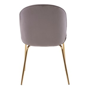 Chimes -Parker Mink Winged Gold Finish Dining Chair