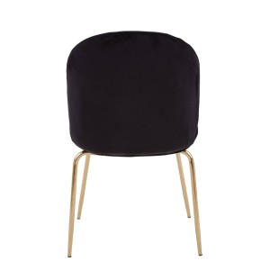Chimes -Parker Black Winged Gold Finish Dining Chair