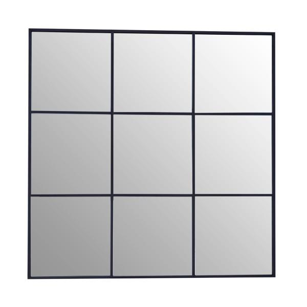 Chimes - Black 9 Squares Wall Mirror
