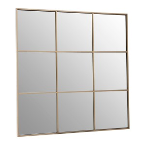 Chimes - Gold 9 Squares Wall Mirror