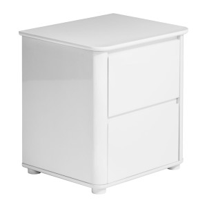 Chimes - Clara White Gloss Bedside Cabinet