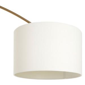 Chimes - Nyla Brass Finish Arc Floor Lamp
