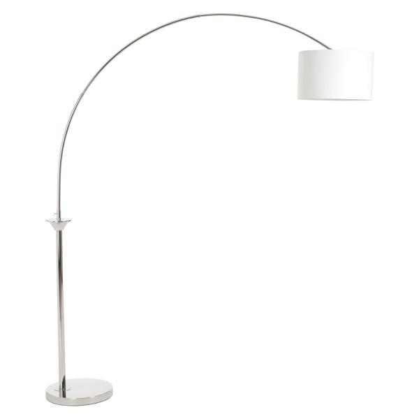 Chimes - Nyla Nickel Finish Arc Floor Lamp