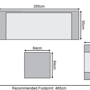 Nova - Infinity Outdoor Fabric 3 Seater Sofa Set - Flanelle